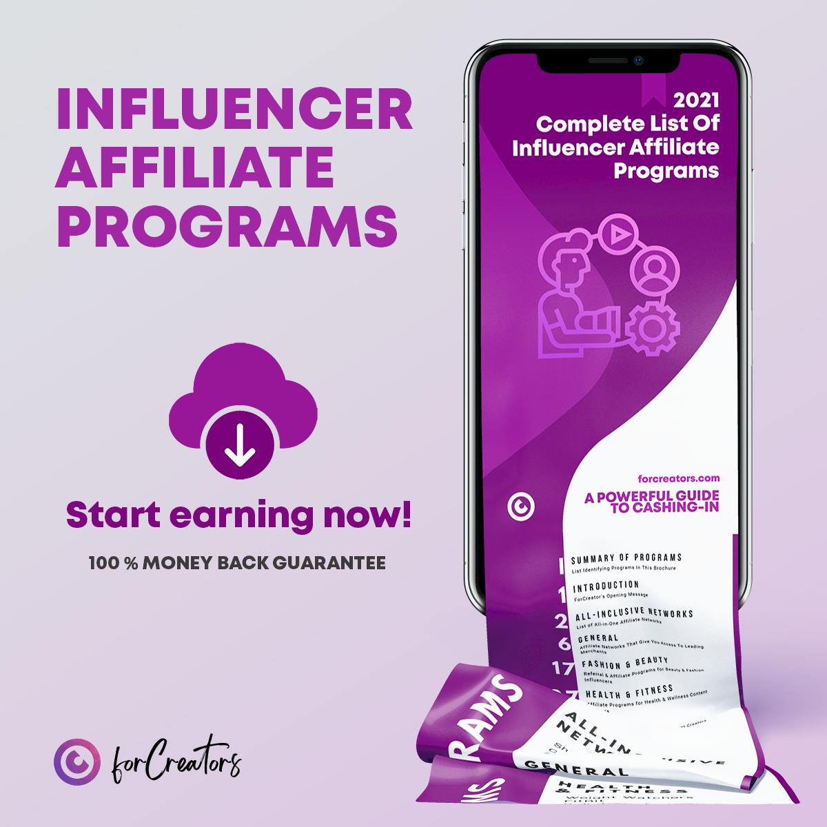 Influencer Affiliate Programs Review 2021