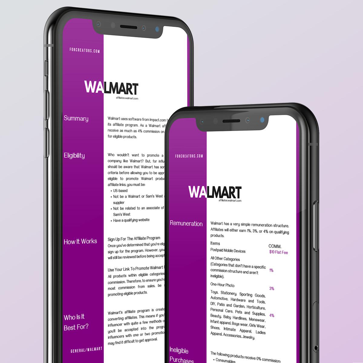 Influencer Affiliate Programs WALMART