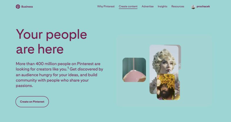 Pinterest for creators